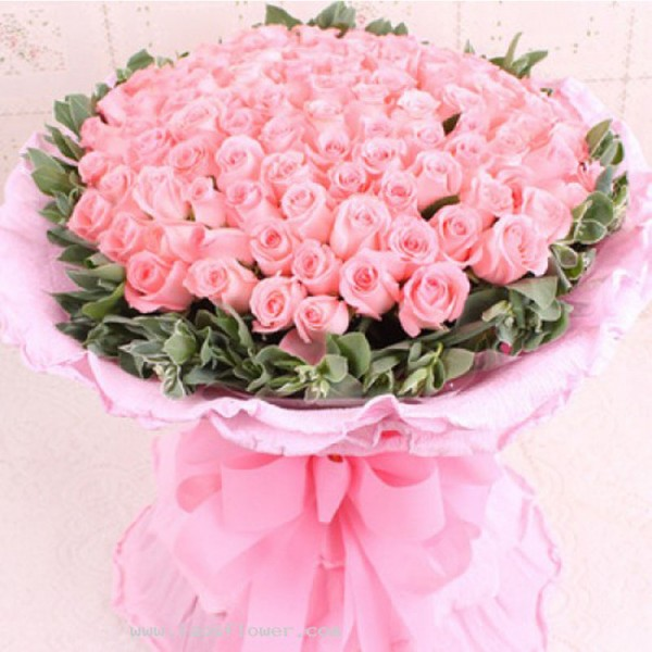 99-PINK ROSES BOUQUET