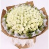 108 WHITE ROSES BOUQUET